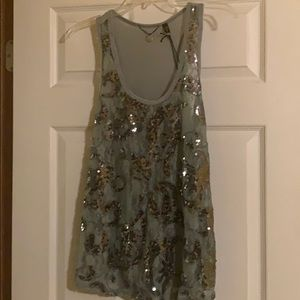 BKE boutique sequined tank
